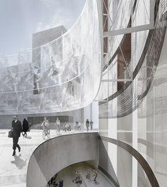 Keir Alexander « studio12 #concrete #public #madrid #design #square #architecture #veil #lightweight #shadow