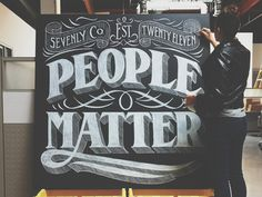 People Matter #chalk