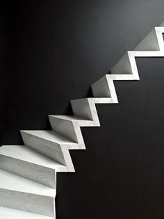 Silver blonde #stairs #wall #black