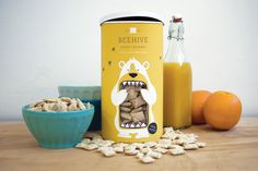 Lacy Kuhn — Beehive #packaging #honey #beehive #cereal #bear