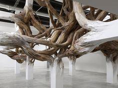 henrique oliveira baitogogo designboom 03 #wood #sculpture