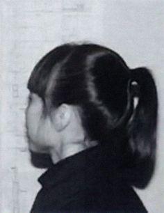 Rei Kawakubo after Rei Kawakubo's debut show in Paris, 1981. #rei
