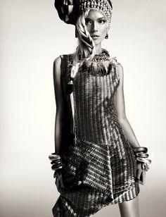 Kasia Struss by Greg Kadel for Numéro France #model #girl #campaign #photography #portrait #fashion #editorial #beauty