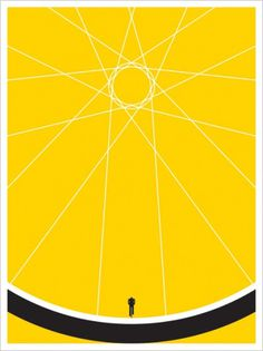 JASON MUNN - Biker - Poster #states #silkscreen #small #bicycle #poster