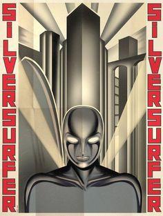 1977 Voltios: El arte de los super héroes #superhero #artdeco