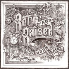 John Mayer - Born and Raised Hand drawn Album Art #art #hand drawn #sketch #album #john mayer