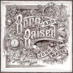 John Mayer - Born and Raised Hand drawn Album Art