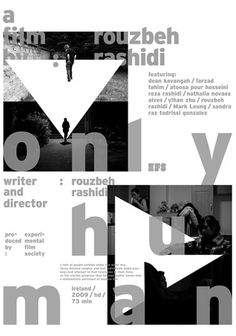 only-human.jpg (JPEG Image, 368x525 pixels) #white #experimental #black #posters #type #face #typography