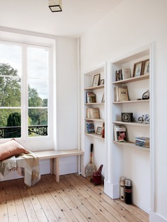 A built-in window bench with a view.