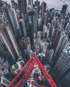 Insane Photos of Hong Kong Taken From The Rooftops by Nicholas Ku