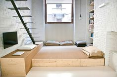 Small studio apartment design R3Architetti - www.homeworlddesign. com (6) #loft #apartment #torino #tiny