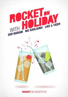 FOURGEAR #disco #drink #design #graphic #illustration #holiday #rocket #club