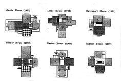Tumblr #wright #plan #white #design #black #floor #grid #architecture #frank #lloyd