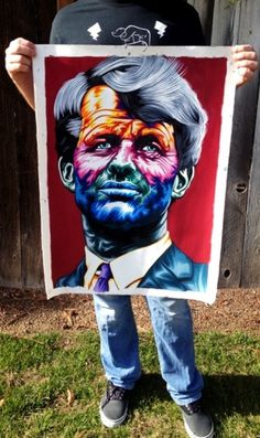 APEDOGS • View topic - Yum, LSD. #jfk #lsd #portrait #goache #kennedy #psychedelic