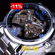 Winner #WU8012 #Men #Automatic #Mechanical #Watch #- #BLACK