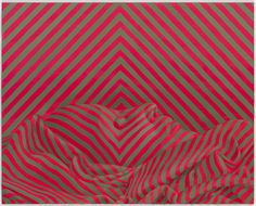 Sascha Braunig #illusion #stripes #color #painting #art