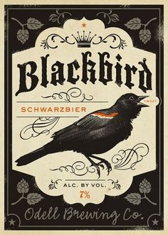 The Fox Is Black » Odell Brewing TwitterBrew Tap Design Contest #art #poster #colorado #tenfold collective #blackbird