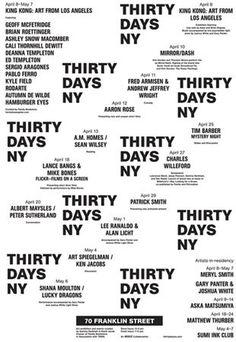 Thirty Days NY #design #typography #grid