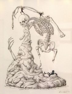 Paul Waijman – Absolute Power of the Tongue #abstract #death #skeleton #tongue #paul waijman