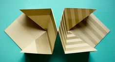 Paper Folding #design #graphic #origami #gold #folding #paper
