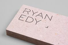 Ryan Edy Business Cards #logo #photography