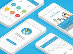 iOS Social Banking App - Banking Apps UI Design