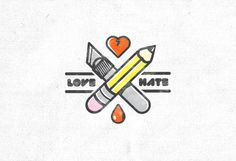 Love Hate Illustration on Behance #mark #florida #hate #illustration #orlando #type #love