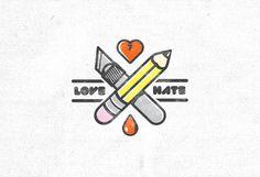 Love Hate Illustration on Behance