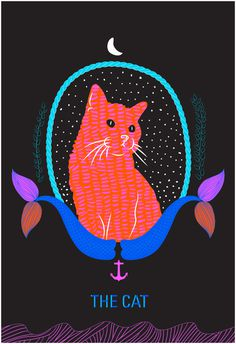 The Moral Compass - meganprycedesigns.com #zine #pink #design #fish #cat #black #mermaid #drawing #book #illustration #sea #stars #moon #animal #sketch #typography
