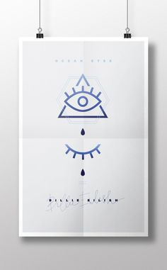 Music poster, the all seeing eye, horus eye, pyramid, eye, eyes, music, tears, ocean eyes, billie eilish, poster, graphic, graphic design
