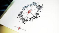 Circular Gothic Calligraphy