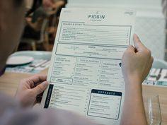 Pidgin Kitchen & Bar #print #menu