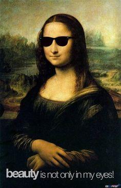 Mona Lisa! #glasses #visual #monalisa #design #rayban #smile #art #beauty