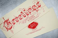 FPO: Product Superior Holiday Card #greeting #cards #letterpress #typography
