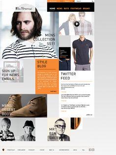 Ben Sherman David Burns | Graphic Design Portfolio #modular #sherman #website #grid #block #ecommerce #fashion #ben