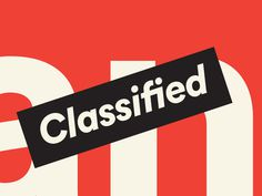 Classified #simple #fun #graphic #clean