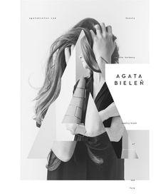 Agata Bielen - Tomasz Biskup #photography #fashion #typography