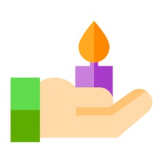 See more icon inspiration related to hands and gestures, miscellaneous, candles, decoration, candle, hand, illumination and light on Flaticon.