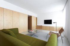 Apartment Refurbishment in Pamplona / Iñigo Beguiristain #void #solid #interiors #wood #architecture