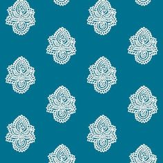 Double Blossom Chalk on Federal - frocklove - Spoonflower #offset #print #textile #paisely