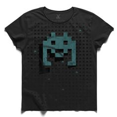 #multiplayer #gray #tee #tshirt #game #spaceinvaders #player #computer #commodore #atari