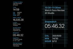 Apple Watch GUI Design #apple #layout #grid #watch #face