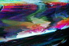 Chimes&Rhymes | innovative design and new techniques in visual artistry #fuzz #color #distorted #static #tv