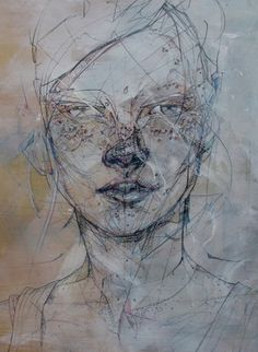 Colossal | art + design #face #drawing #painting