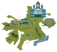 Helsinki Maps on the Behance Network #illustration #texture