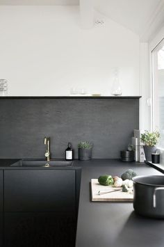 Black and white kitchen. Photo by Nina Holst. #ninaholst #kitchen #blackandwhite