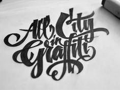 Dribbble - Allcity Sketch by Kossyo Kokalanov #lettering #bold #drawn #hand #typography