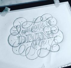 So Divine - Sketching while listening to The Divine Feminine - #sketching #pencil #lettering #scriptlettering #divine #divinefeminine #handl