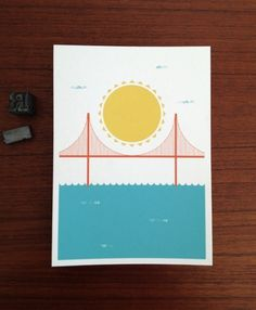 Brent Couchman Design & Illustration - Shop - Sunny SF - $ 8 #screen #print #poster