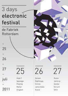 Unknown Festival #cirkel #festival #rotterdam #shapes #concept #poster #gradient #music #blocks #electronic